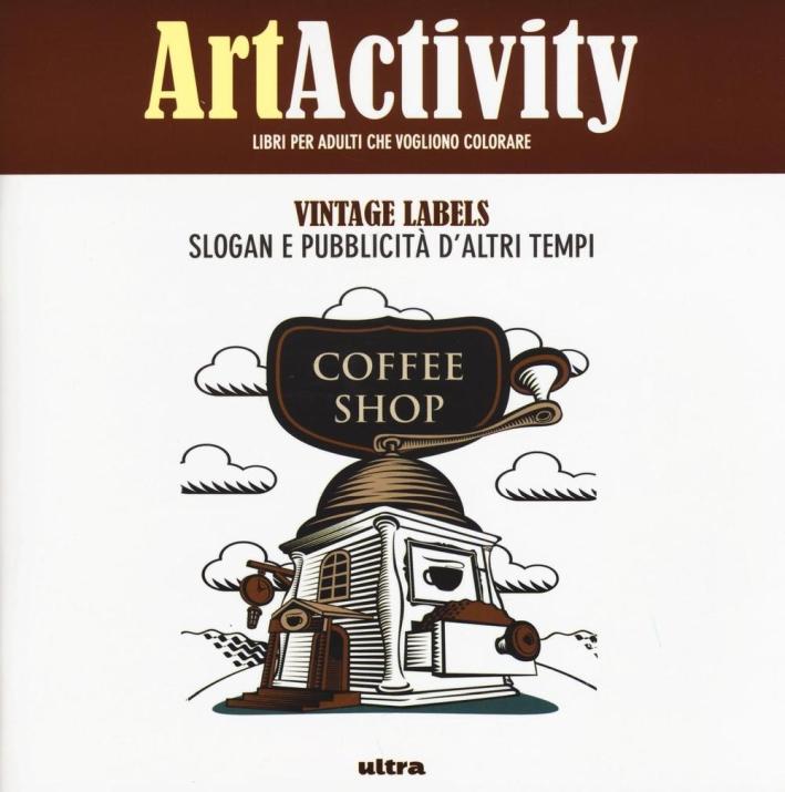 Art activity. Vintage labels.