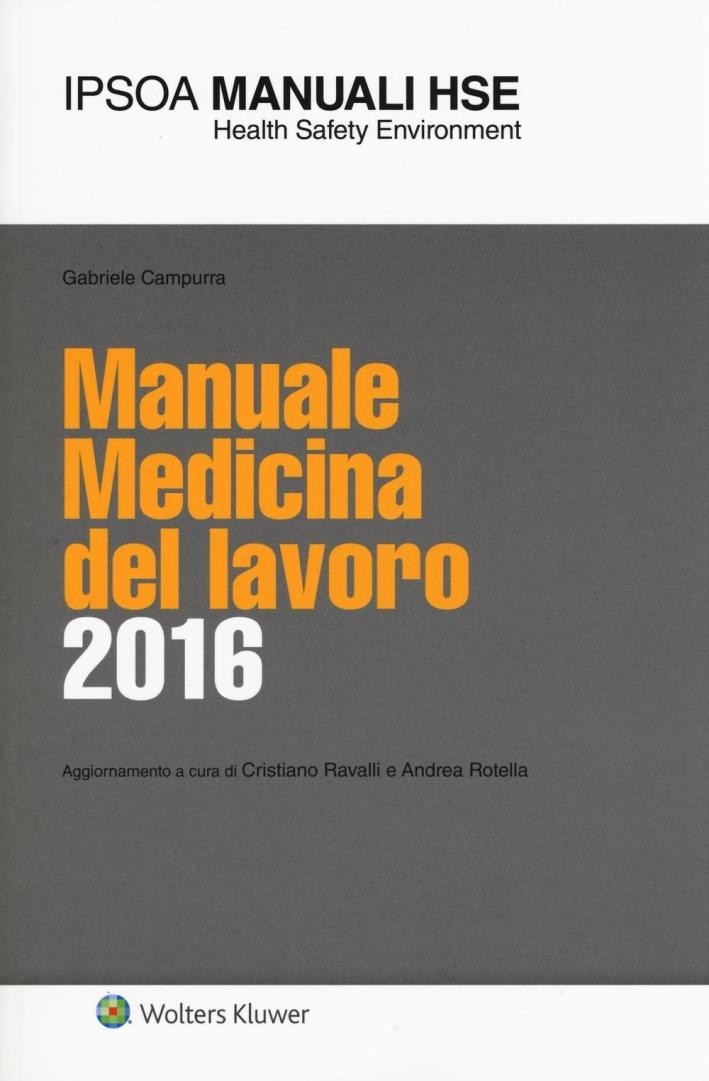 Manuale medicina del lavoro 2016.