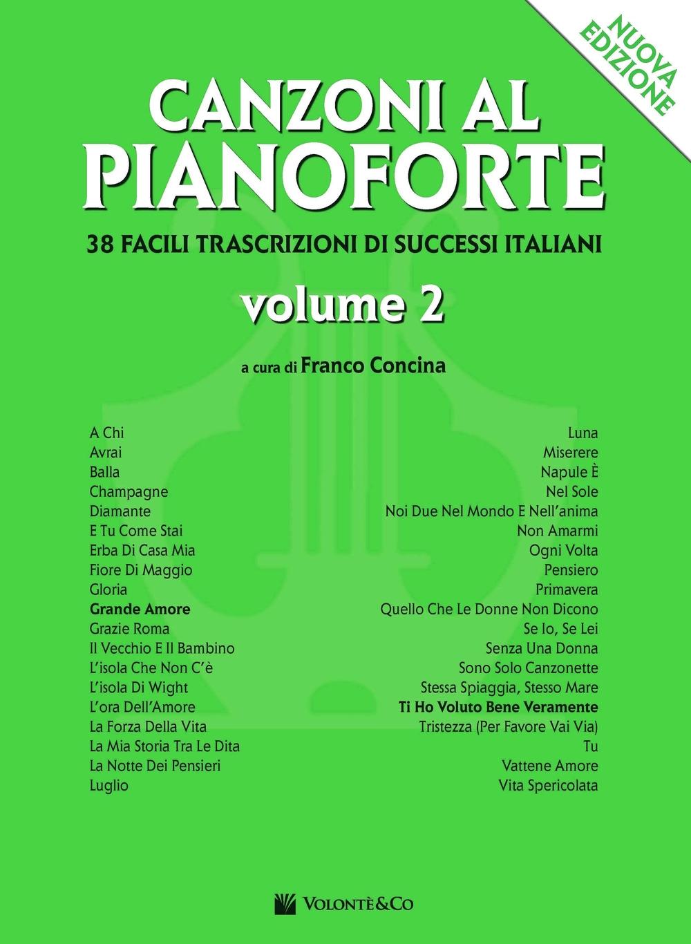 Canzoni al pianoforte. Vol. 2.