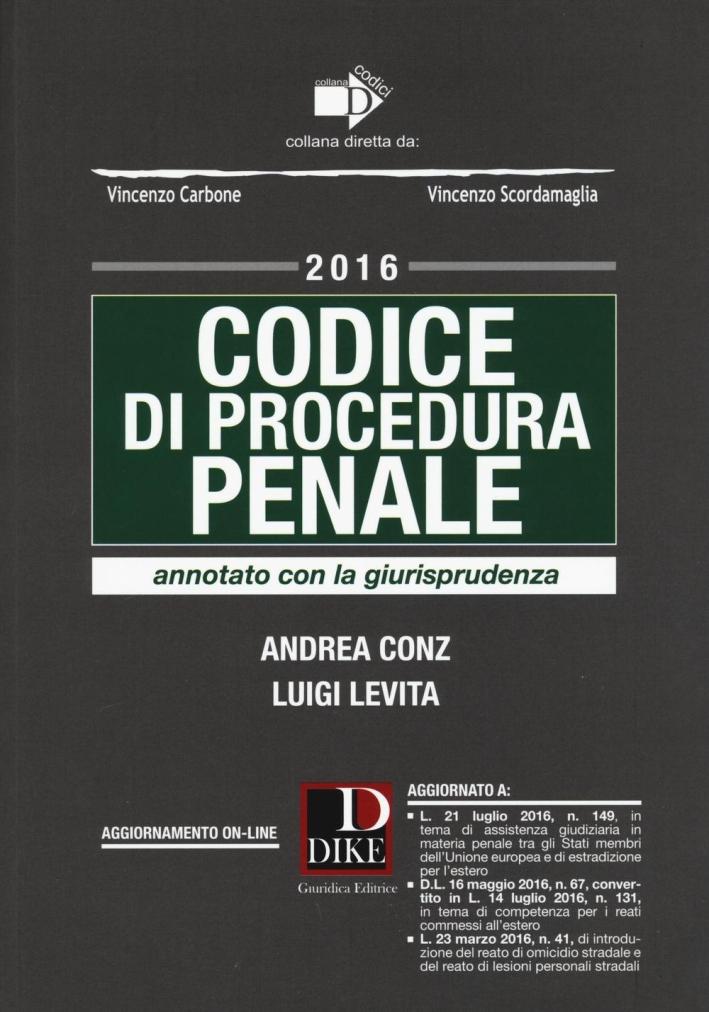 Codice di procedura penale annotato con la giurisprudenza.