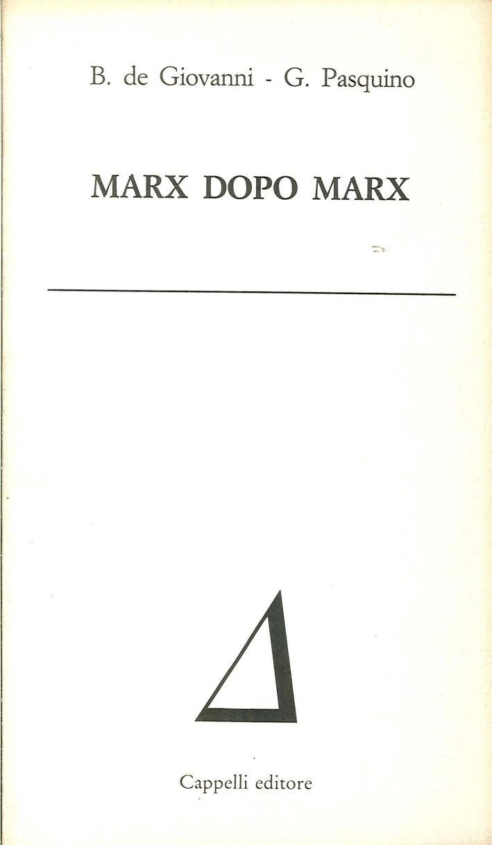 Marx Dopo Marx.