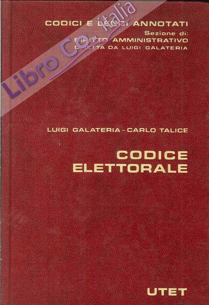 Codice Elettorale.