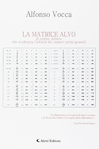 La matrice Alvo di ordine infinito che evidenzia l'infinità dei numeri primi gemelli.