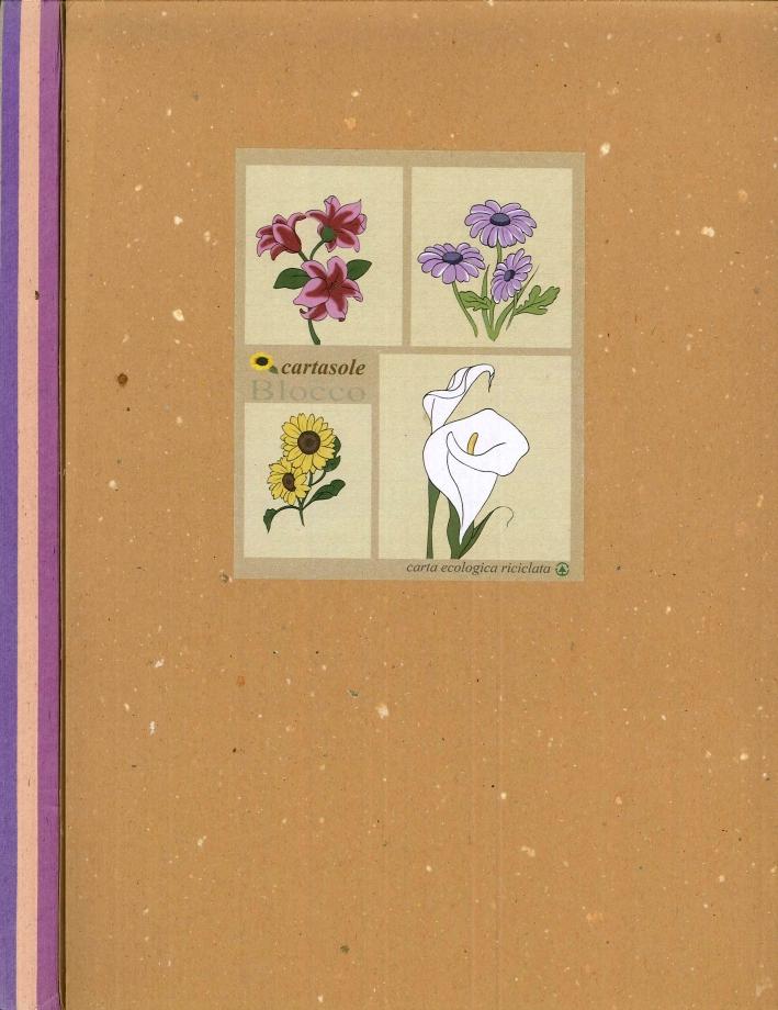Cartasole Blocco Multicolor: Lilla, Rosa, Viola 21x29