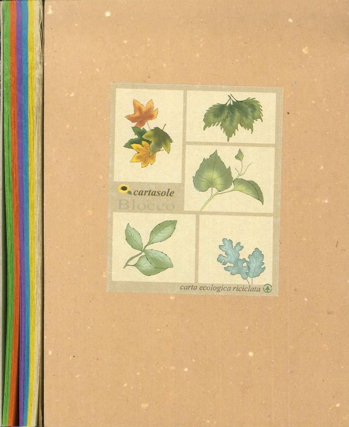 Cartasole Blocco Multicolor: Avana, Giallo, Azzurro, Viola, Arancione, Verde 15x21
