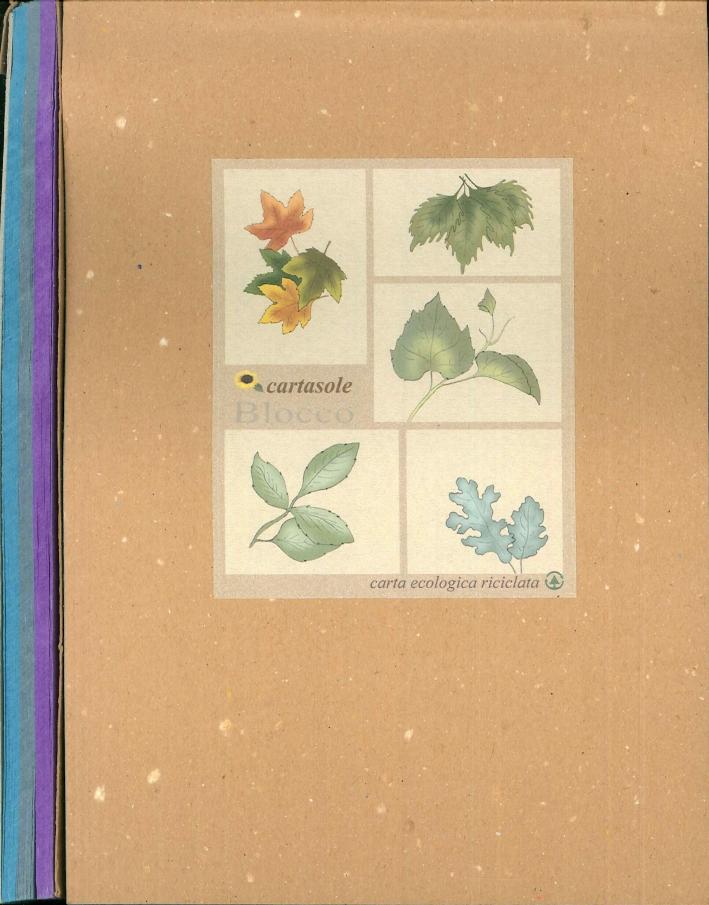 Cartasole Blocco Multicolor: Azzurro, Celeste, Viola. 15x21.