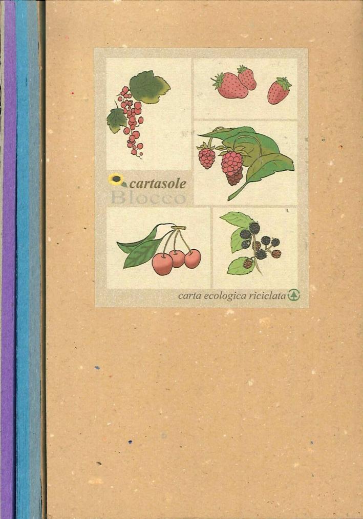 Cartasole Blocco Multicolore: Celeste, Azzurro, Viola. 9,5x15,5.