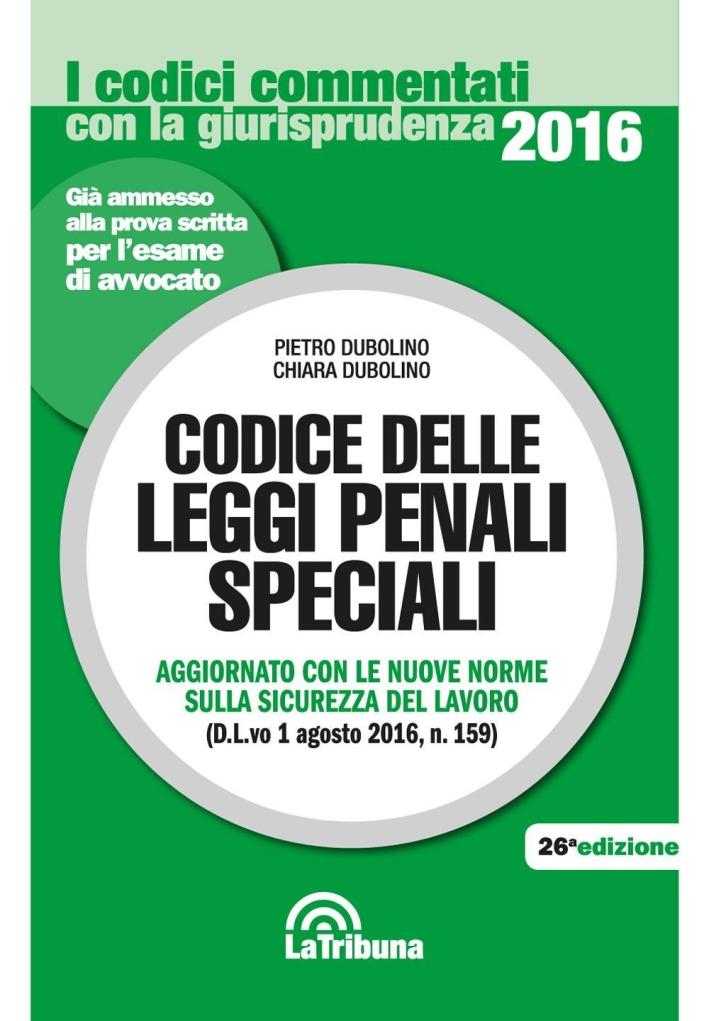 Codice delle Leggi Penali Speciali.