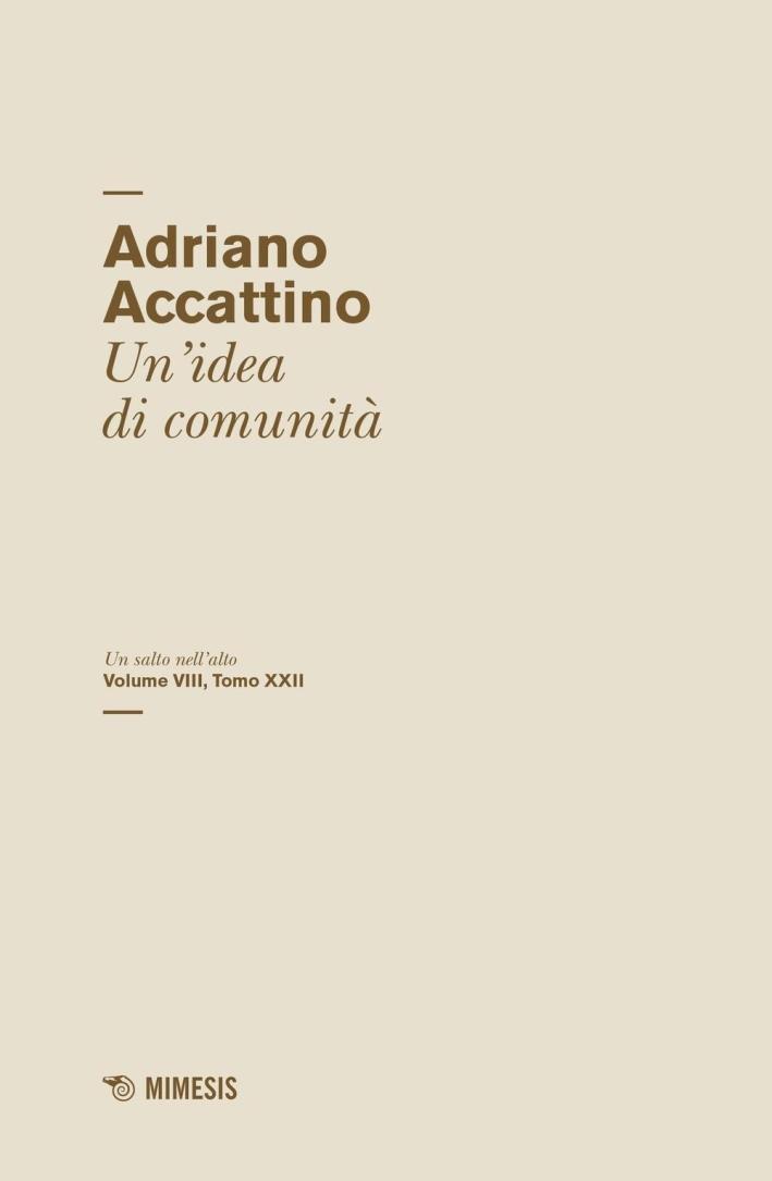 Un salto nell'alto. Vol. 8/22: Un'idea di comunità.