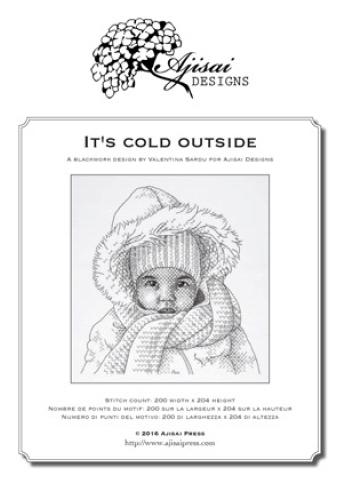 It's Cold Outside Blackwork Design.
