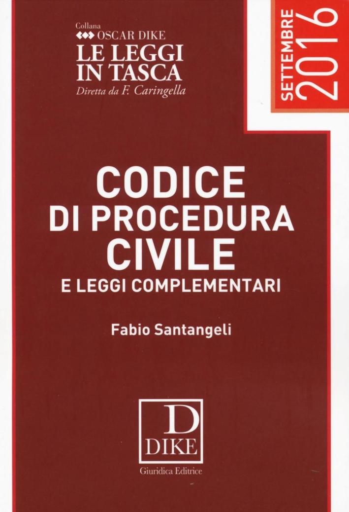 Codice di procedura civile e leggi complementari. Pocket.