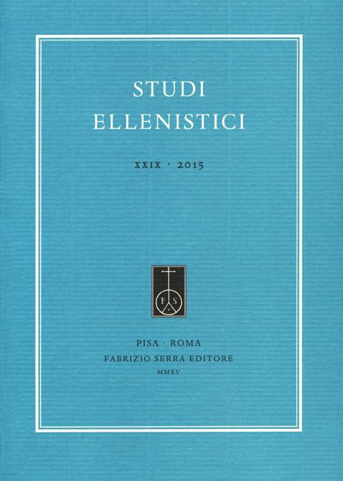 Studi ellenistici (2015). Vol. 29