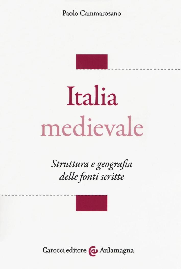 Italia medievale. Struttura e geografia delle fonti scritte.