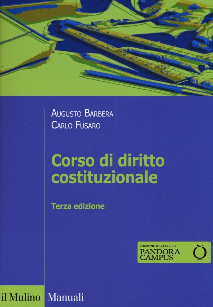 Corso di diritto costituzionale.
