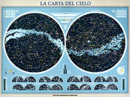 Carta del cielo. Poster plastificato e fosforescente 120x90. [riferimento 14].