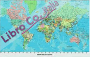 Cartina il mondo. Planisfero politico. 159x112cm. Carta plastificata opaca. Sala 1:26.500.000 [riferimento 22].