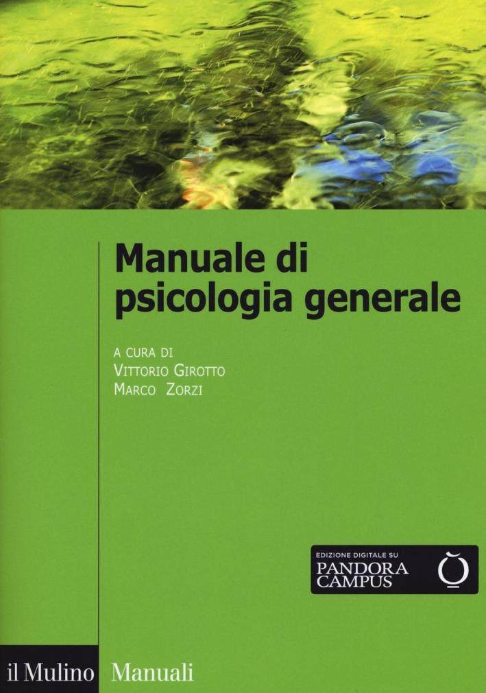Manuale di psicologia generale.
