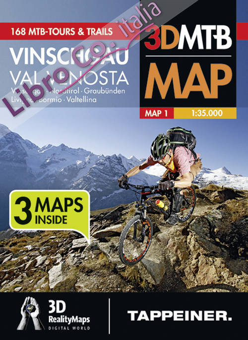 Best of Val Venosta. Set cartine 3D MTB.