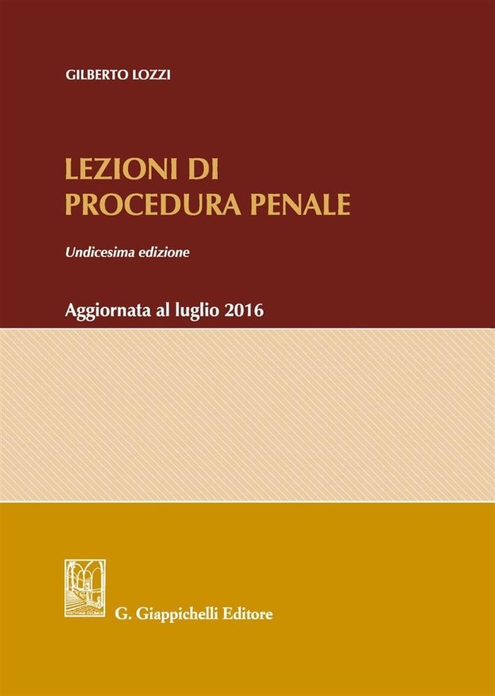 Lezioni di procedura penale.