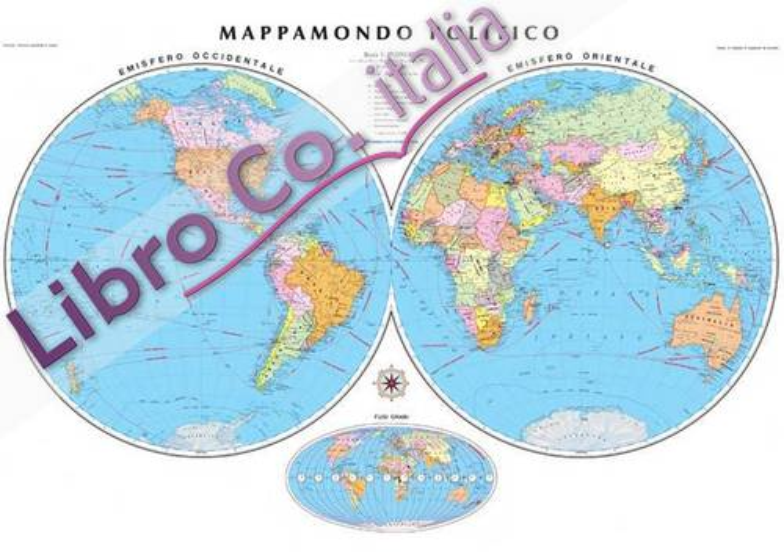 Cartina Planisfero Politico - Mappamondo Cm 138x98 [Riferimento 53].