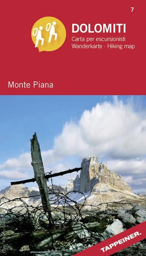 Monte Piana. Dolomiti. Carta per escursionisti. Ediz. italiana e tedesca.