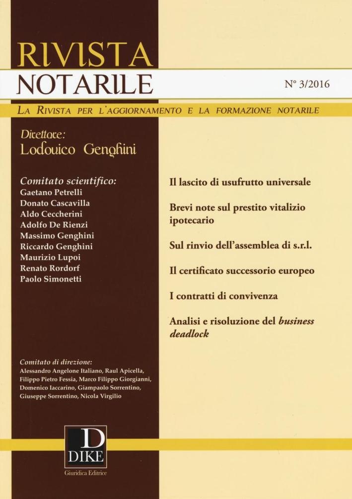 Rivista notarile. Vol. 3.