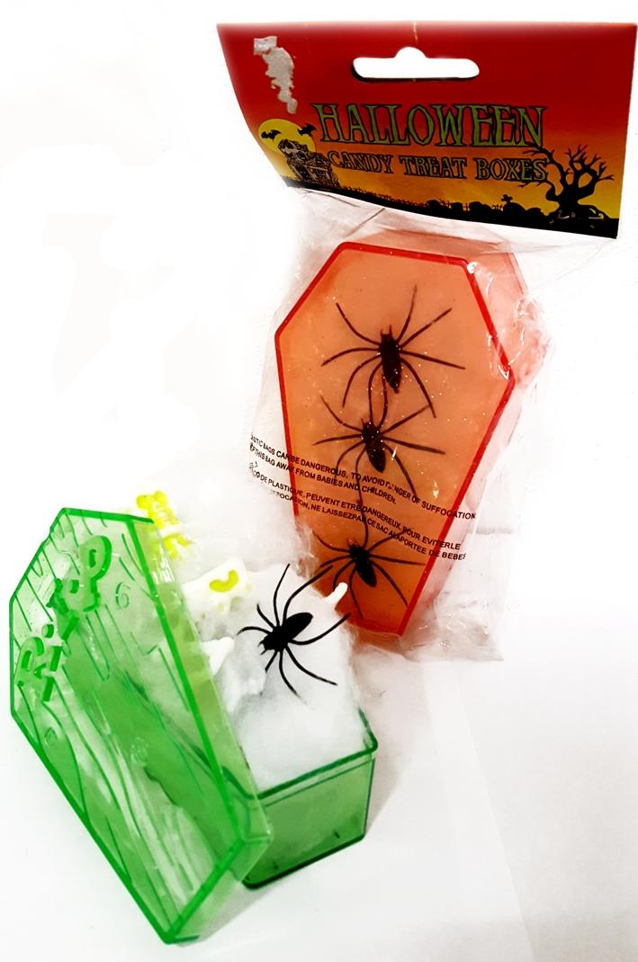 Halloween Candy Treat Boxes - Scatola Giocattolo Halloween. Cm 7x12 Colori Vari