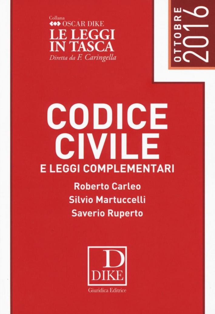 Codice civile e leggi complementari.