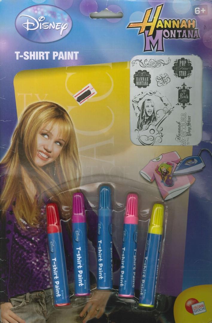 T-shirt paint. Hannah Montana. Decora la tua maglietta. Hannah Montana.