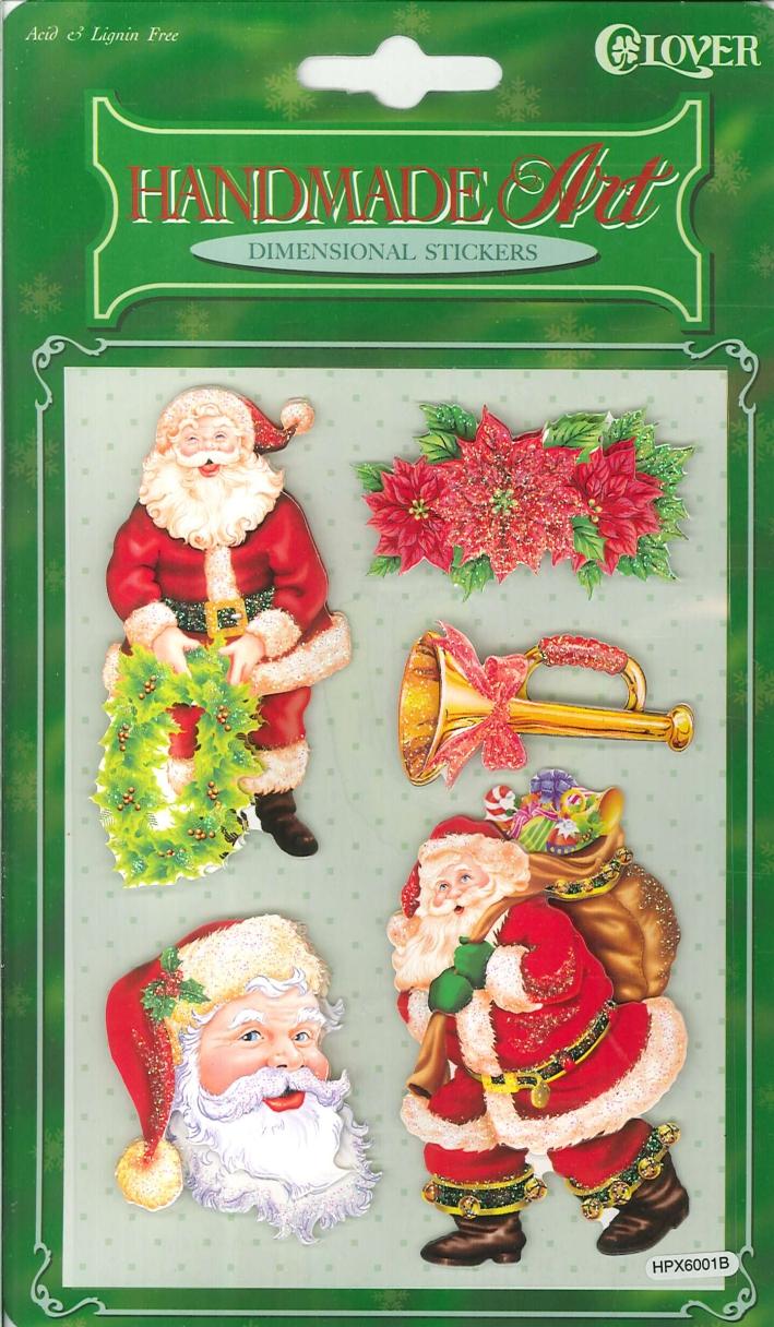 Dimensional Stickers - Christmas (12 pz). Adesivi Tridimensionali - Natale. (confezione 12 pz.)