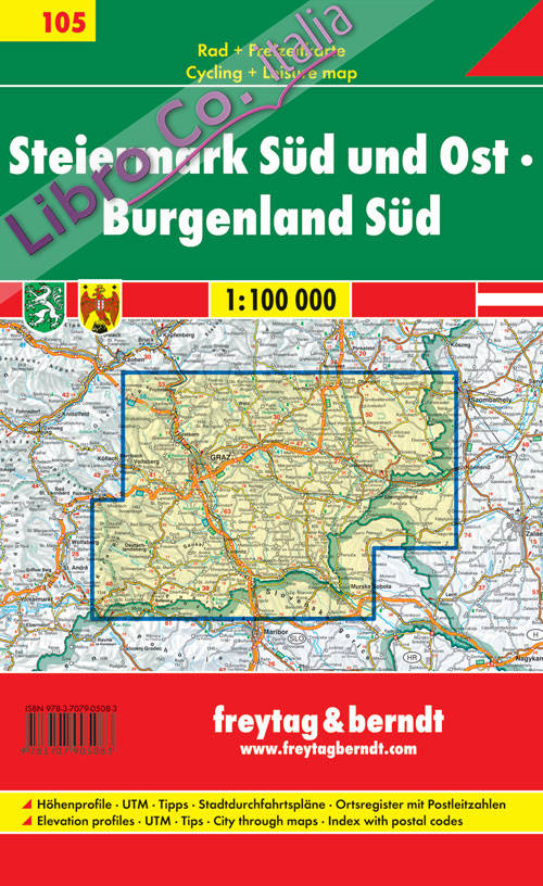 Styria south east, Burgenland south 1:100.000.