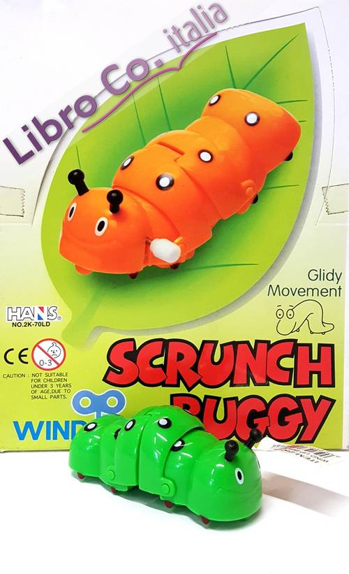 Wind-Up Scrunch Buggy. Bruchi a retrocarica. (1 conf. 24 pz).