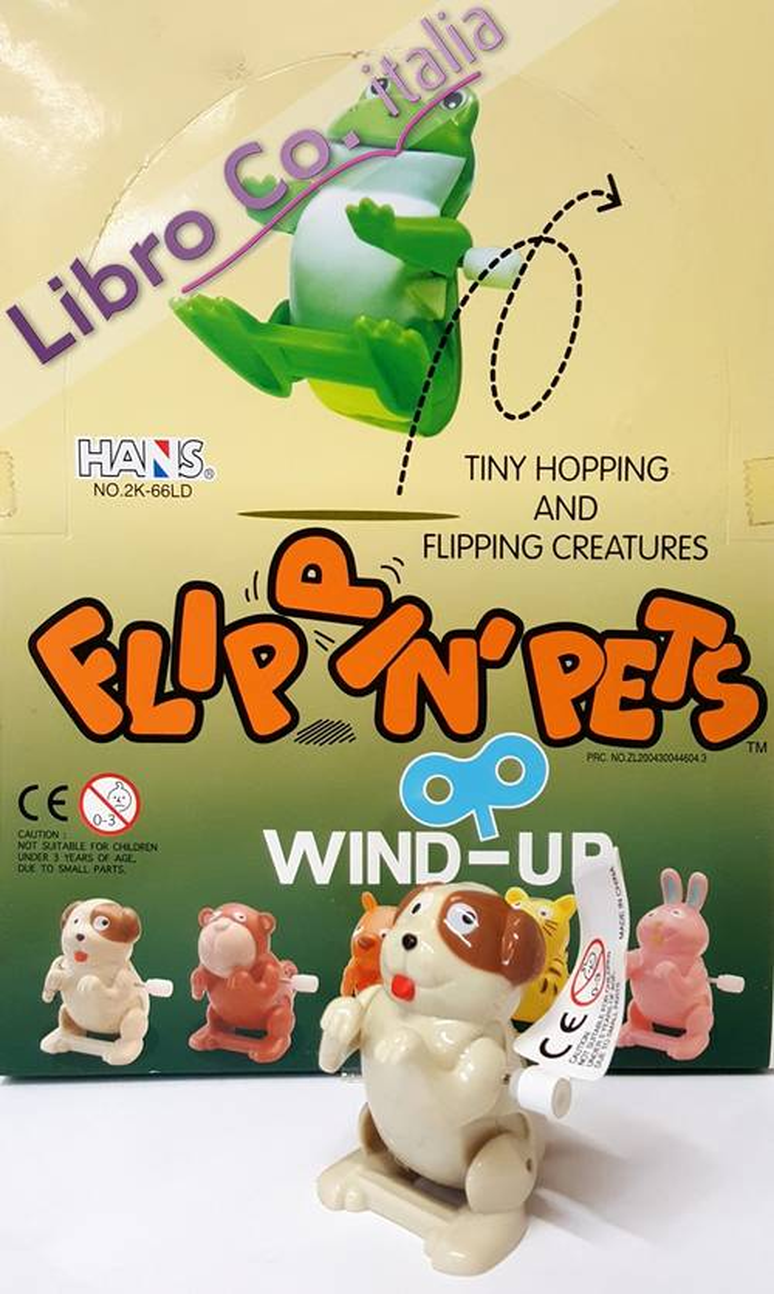 Wind-Up Flippin'pets. Animaletti assortiti a retrocarica. (1 conf. 24 pz).