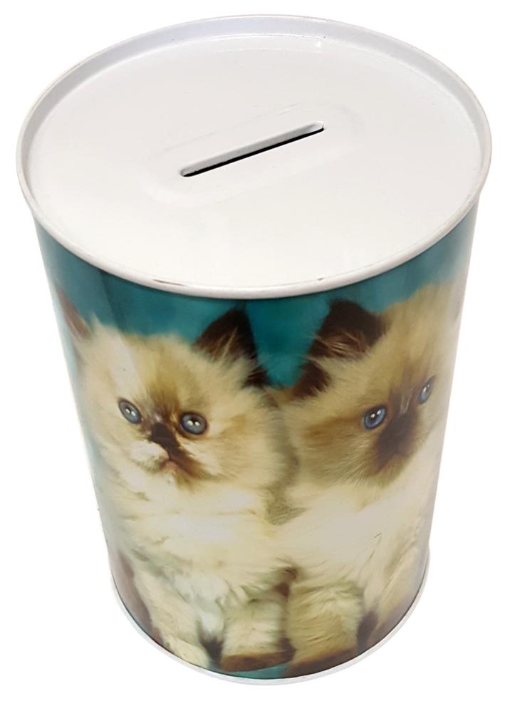 Salvadanaio latta Gatti. Box money Cat.