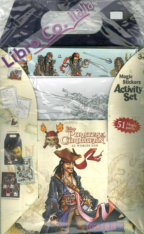 Pirates of the Caribbean. Magic stickers activity set.