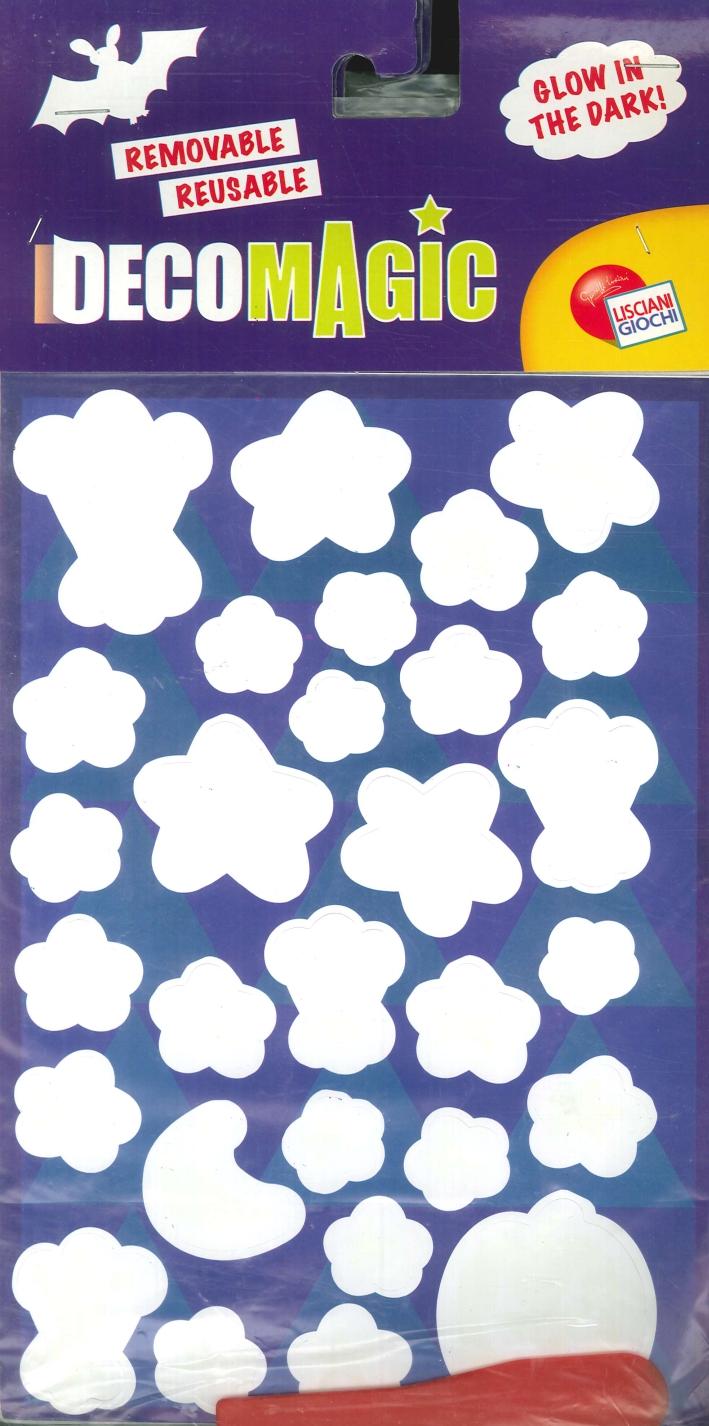 Stelle. Crea e decora la tua cameretta. Stickers rimovibili e riutilizzabili. Brillano al buio. (17x33 cm).(conf.3 pz).