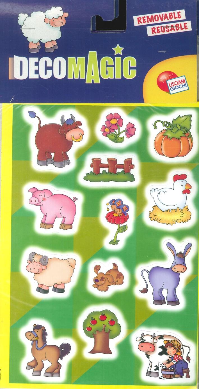 Animali assortiti. Crea e decora la tua cameretta. Stickers rimovibili e riutilizzabili. Brillano al buio. (conf.3 pz).