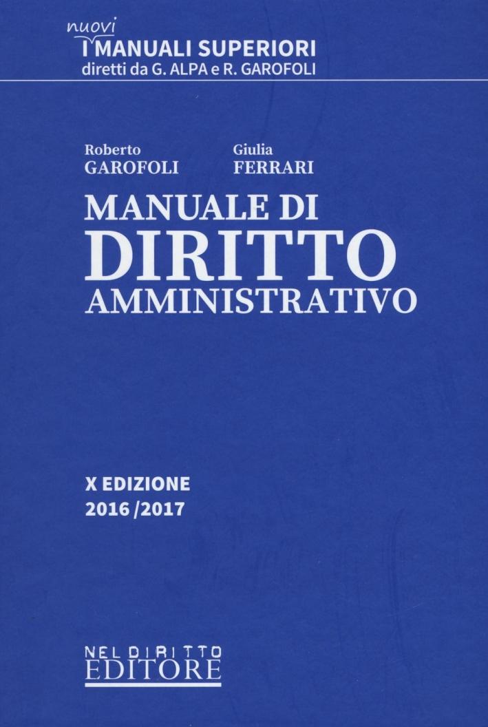 Manuale superiore di diritto amministrativo.
