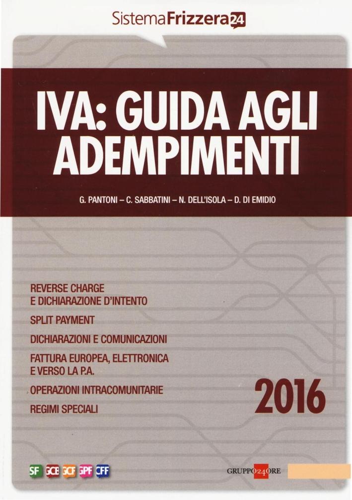 Iva. Guida agli adempimenti 2016.