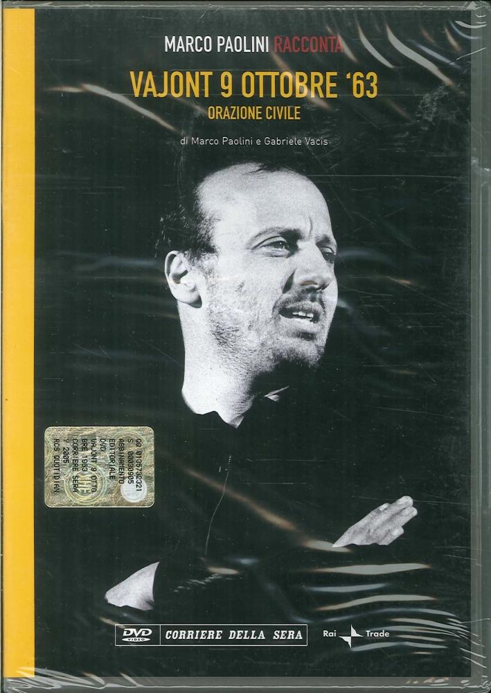 Marco Paolini Racconta. Vajont 9 ottobre '63. Quaderno del Vajont. Operazione Civile. DVD+Libro.