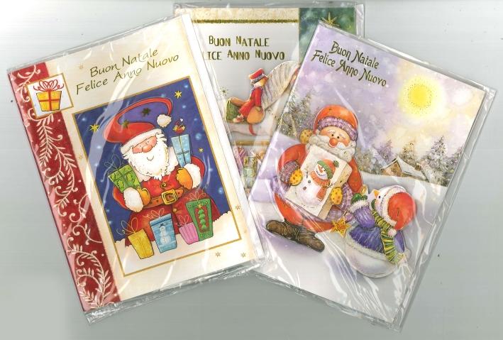 Biglietti d'Auguri di Natale 3D Musicali - Assortiti. Cm 14,5x20 - Conf.3 Pz