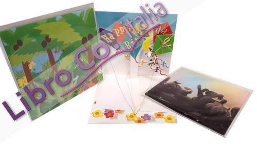 Biglietti d'Auguri Pop-Up. Assortiti. Pop-Up Happy Birthday. Cm 13x13. Conf.3 Pz
