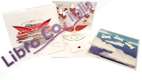 Biglietti di Congratulazioni Pop-Up. Assortiti. Pop-Up Greeting Card. Cm 13x13 Conf.3 Pz.