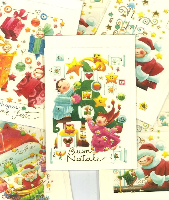 Biglietti d'Auguri di Natale -  Assortiti. Cm 12,5x18. Conf.6 Pz.