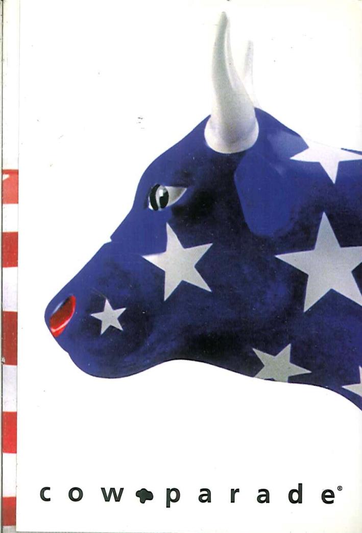 Cow Parade - Huston Taccuino Bianco.