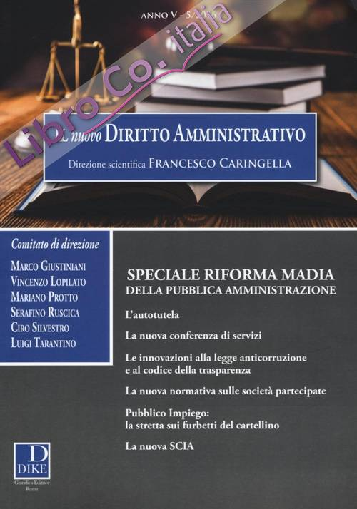 Il nuovo diritto amministrativo (2016). Vol. 5