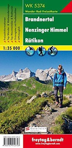 Brandnertal Nenzinger Himmel Ratikon 1:35.000