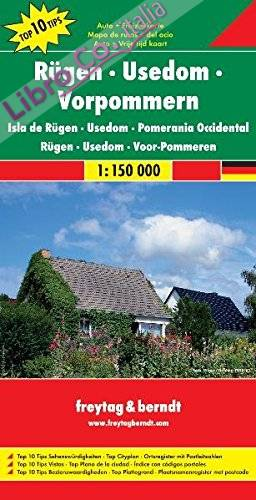 Rügen, Usedom, Vorpommern 1:150.000.