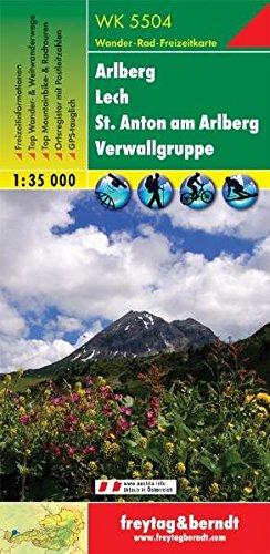 Arlberg Lech St. Anton Verwall Alps 1:35.000.