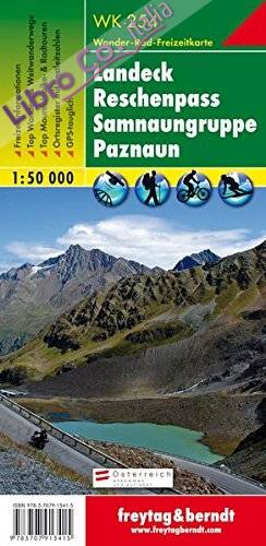 Landeck Reschenpass Samnaun Alps 1:50.000.